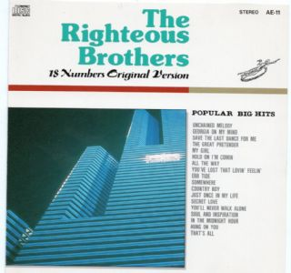 CD THE RIGHTEOUS BROTHERS - POPULAR ARTIST BEST